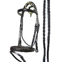 Flat Brown Padded Leather weymouth Bridle 1 web