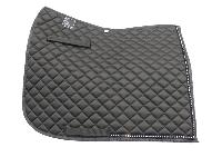 Black Dressage Saddle Pad with Crystals